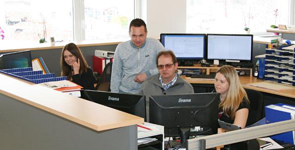 Auftragsannahme Büro Grünecker Heizung und Sanitär